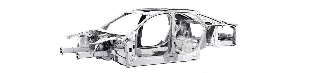 coche carrocería de aluminio